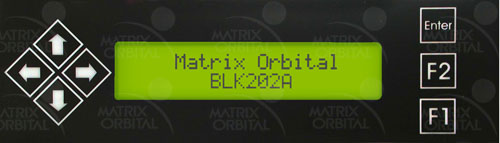 Enlarged image for BLK202A-BK-USB Display Module