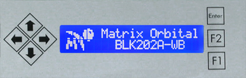 Enlarged image for BLK202A-S-USB-WB Display Module
