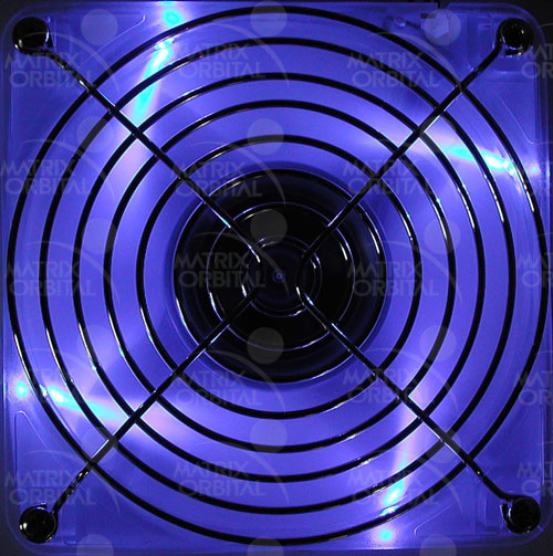 Enlarged image for 80mm Blue LED Fan Display Module
