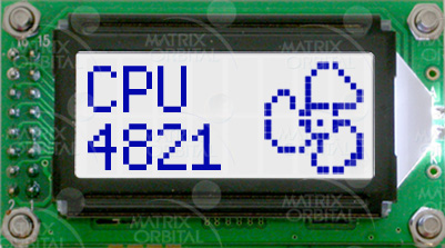 Enlarged image for LCD0821-GW Display Module