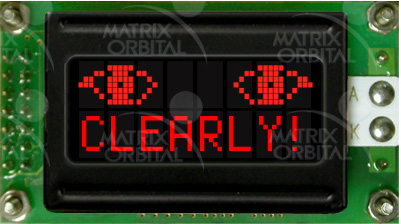 Enlarged image for LCD0821-R Display Module
