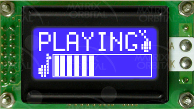 Enlarged image for LCD0821-WB Display Module
