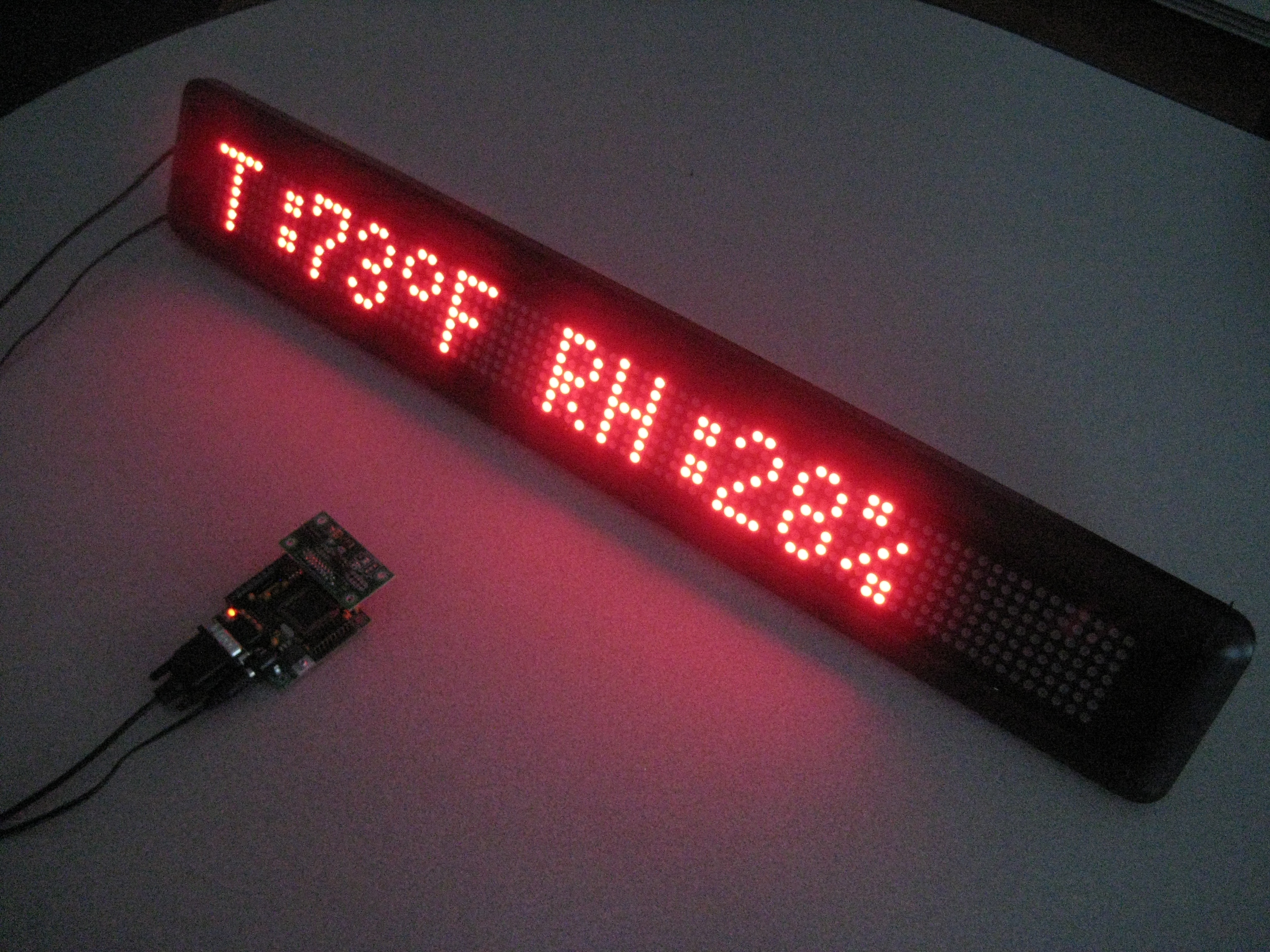 Temperature/Humidity on MML16RU LED Display