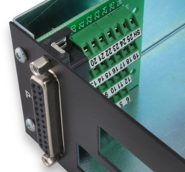 Application: Panel Mount Using Jack Screws BRKSD25F-R pictured