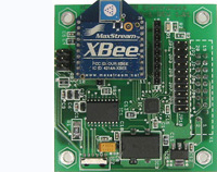 CB-1 - Wireless communications peripheral board.  Provides sockets for ZigBee and Bluetooth modules