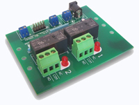 RLY102 - Relay Board, TTL, 15A SPDT, 2 relays, 5V DC, Feet