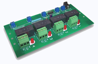 RLY104 - Relay Board, TTL, 15A SPDT, 4 relays, 5V DC, Feet