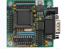 MINI-MAX/P18 - Microcontroller board with Microchip PIC18F458, 32 I/O, RS232. Analog inputs
