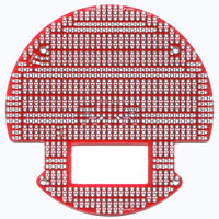 3pi Expansion Kit with Cutouts - Everything you need to add a second level to your 3pi robot. (Red printed circuit board)