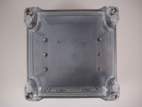 DCC554W - Enclosure with clear top (without back plate, without standoffs)