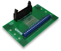 BRK2X10 - 2x10 0.1' Header Breakout Board, Long Ejectors, Feet
