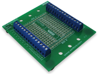 DTB35 - DIP Component to Screw Terminal Adapter Board, 28 Pin, DIN Rail Mount