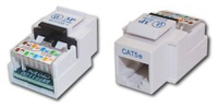 WJ5EW - Cat5e RJ45 Network Keystone Jack, Toolless, White
