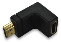 CBHSMSF-0R - HDMI Male-Female Right Angle Adapter