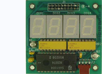 LED-1 - 7-segment 4-digit LED board with I2C interface