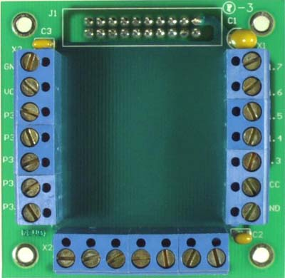 TERMINAL-1 - Peripheral board for terminal block access to microcontroller pins