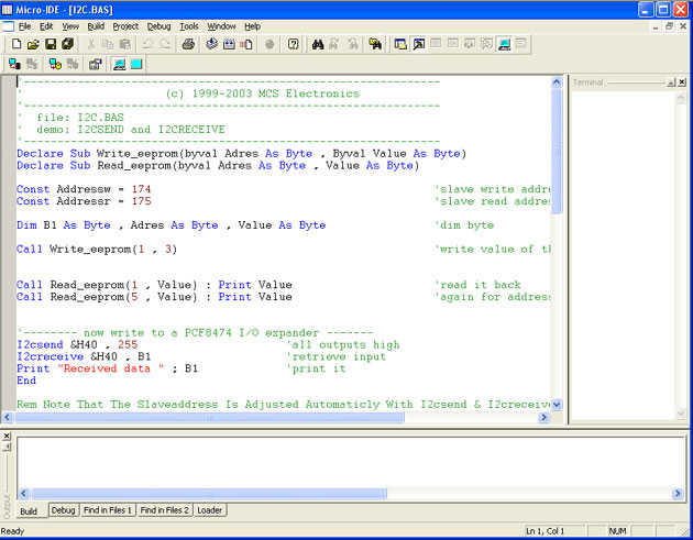 BASCOM-AVR - BASIC Compiler, Windows IDE for ATMEL AVR