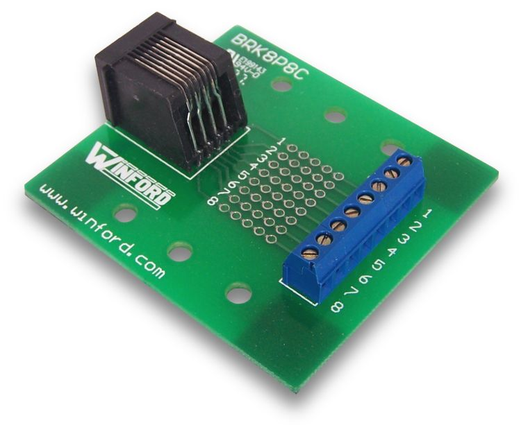 Bipom Electronics Rj45 8p8c Breakout Board