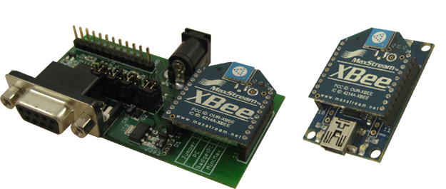 RS232 to USB Wireless cable - BRD-USBXB-1 board with XBee on one side and BRD-RS232-TTL-1 board with XBee on other side