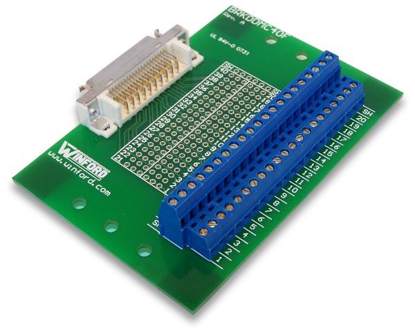 Ribbon Cable Breakout : Bipom electronics mini d ribbon pin breakout board