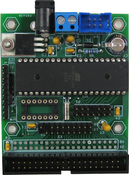 microClock - AVR Microcontroller board based on ATMEGA32 with very low power. Ideal for real-time clock applicati