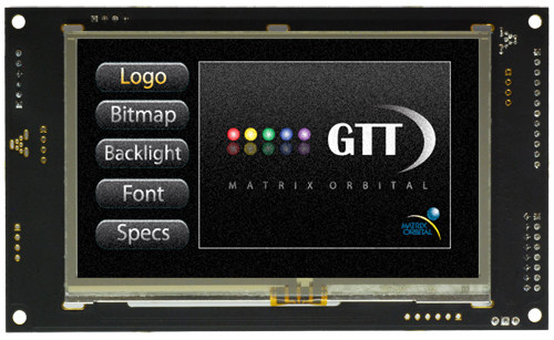 Enlarged image for GTT43A-TPR-BLS-B0-H1-CS-VPT Display Module
