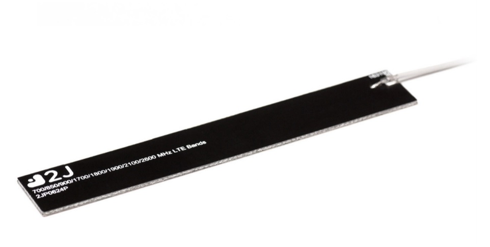 2JP0624P-UFL-150MM - Cellular Strip Antenna - Rigid - Black - 150mm cable - u.FL