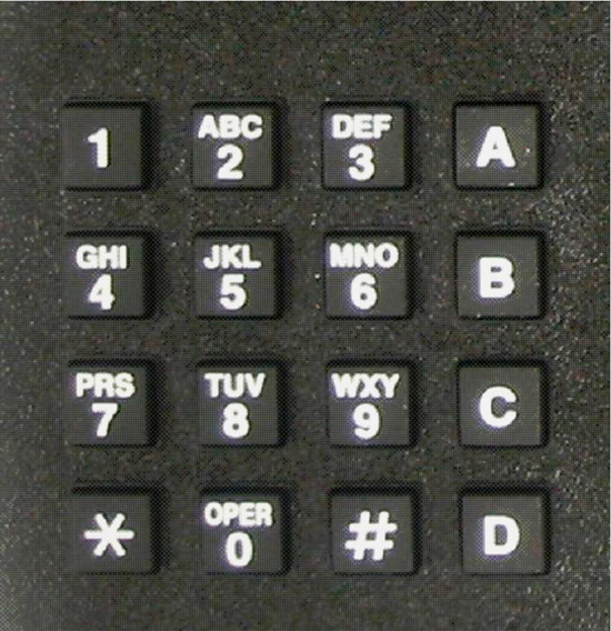 KP1-4X4 - 4 columns by 4 rows matrix keypad  ( Includes 3 inch cable )