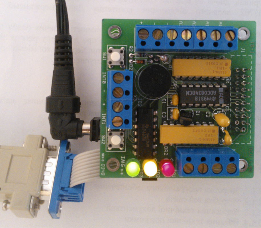 LED's on TB-1 Training Board are turned on