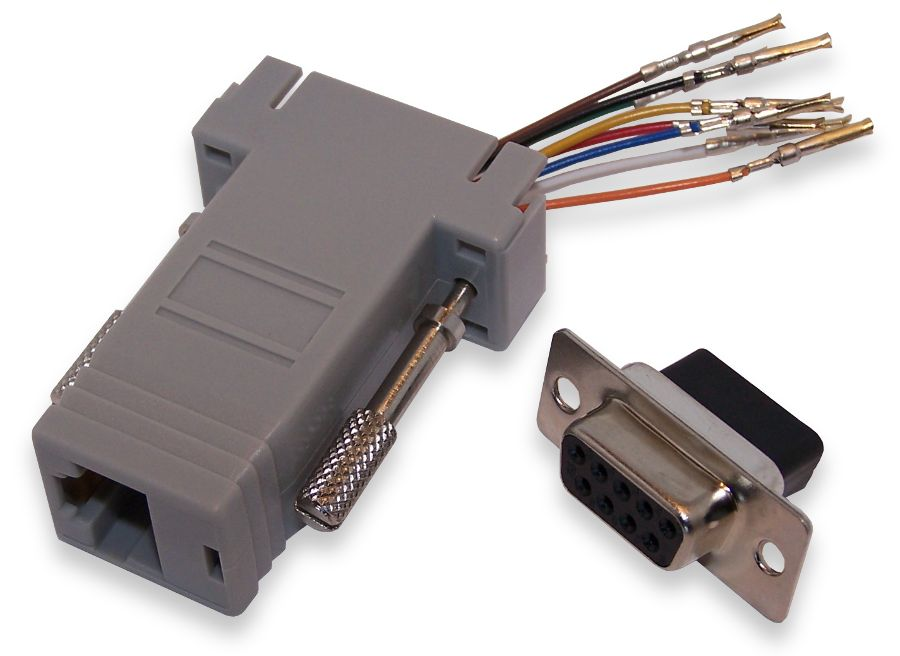 bipom electronics modular rj to db9 adapters. Black Bedroom Furniture Sets. Home Design Ideas
